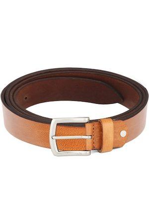 WildHorn Men Tan & Brown Solid Leather Belt