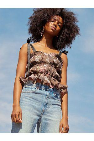 H&M Women Tank Tops - Brock Collection x Women Lyocell Blend Top
