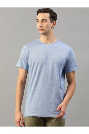 Matinique Men Short Sleeve - Men Blue Solid Round Neck T-shirt