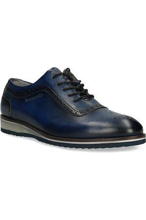 Bugatti Men Formal Shoes - Men Navy Blue Solid Leather Formal Oxfords