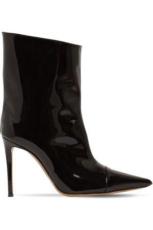 ALEXANDRE VAUTHIER 105mm Faux Patent Leather Ankle Boots