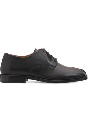 Maison Margiela Women Flats - 20mm Tabi Leather Lace-up Shoes