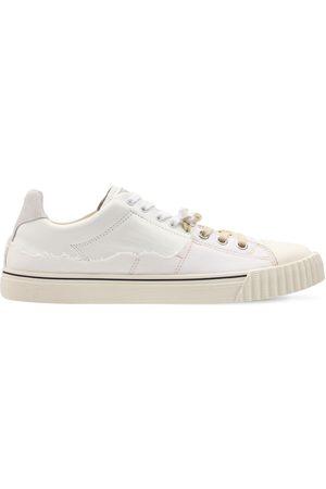 Maison Margiela Low Top Cotton & Leather Sneakers