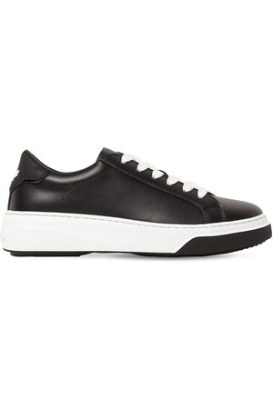 DSQUARED2 Women Sneakers - 40mm Bumper Leather Sneakers