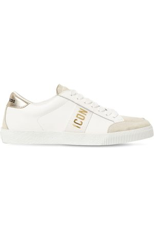 Dsquared2 20mm Cassetta Leather & Suede Sneakers