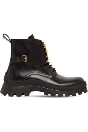 Dsquared2 Women Boots - 30mm D2 Statement Leather Combat Boots