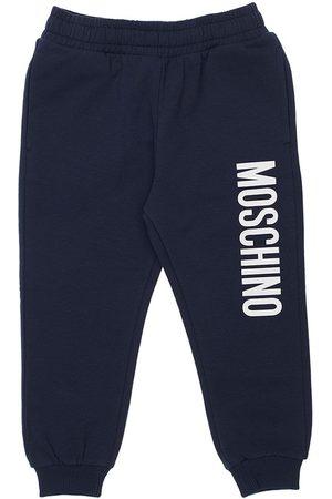Moschino Girls Sports Trousers - Logo Print Cotton Sweatpants