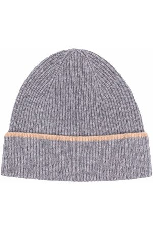 ELEVENTY Men Beanies - Ribbed-knit cashmere beanie