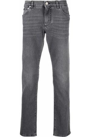 Dolce & Gabbana Straight-leg logo-plaque jeans