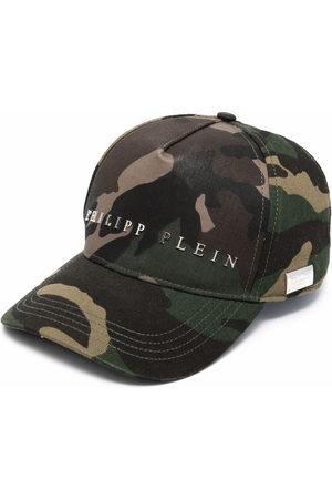 Philipp Plein Logo camouflage-print baseball cap