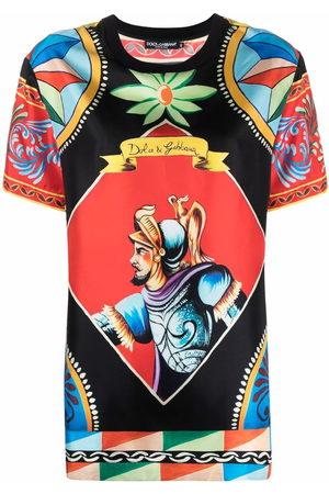 Dolce & Gabbana Women Short Sleeve - Carretto-print T-shirt