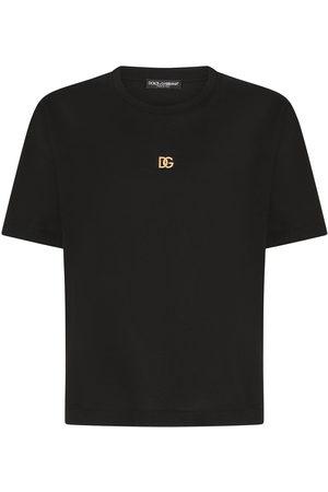 Dolce & Gabbana Men Short Sleeve - Logo plaque cotton T-shirt