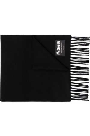Alexander McQueen Fringed wool scarf