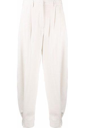 Fabiana Filippi Wool-flannel tapered-leg trousers