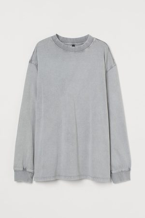 H&M Women Long Sleeve - Long-sleeved jersey top - Grey
