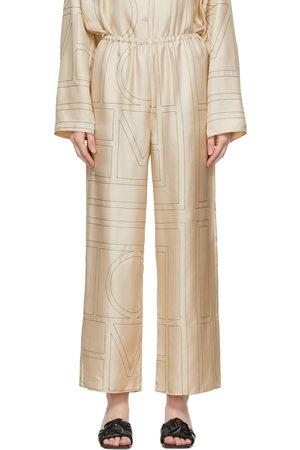 Totême Silk Monogram PJ Lounge Pants