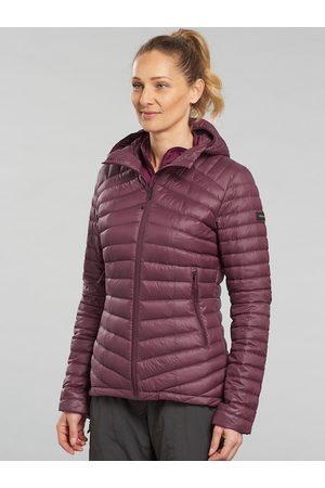 FORCLAZ By Decathlon Women Burgundy Insulator Outdoor Puffer Jacket
