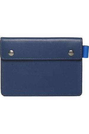 Fossil Men Navy Blue Solid Leather Travel Pouch