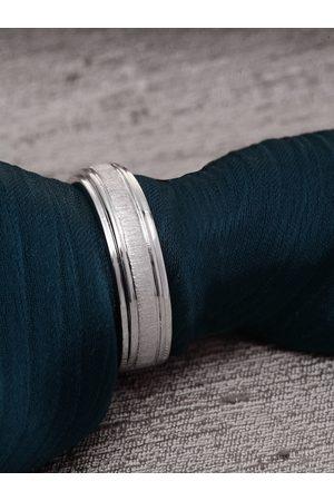 Clara Men Silver Toned Adjustable Finger Ring
