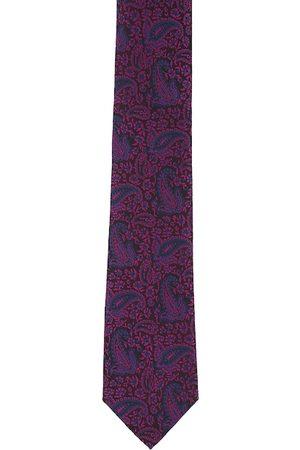 Peter England Men Purple Textured Accessory Gift Set