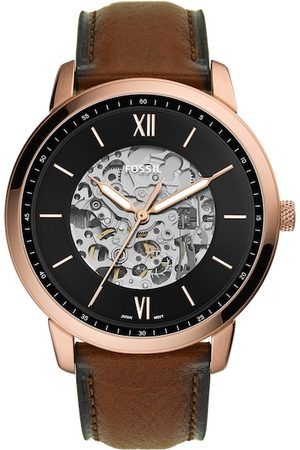 Fossil Men Black Neutra Skeleton Dial Analogue Automatic Motion Powered Watch ME3195