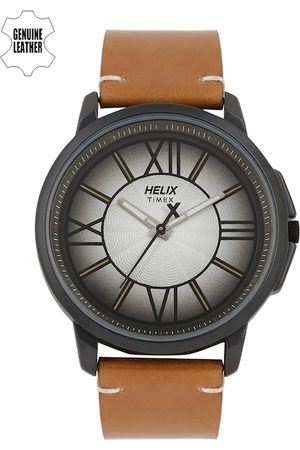 Helix Men Silver-Toned Analogue Watch TW027HG21