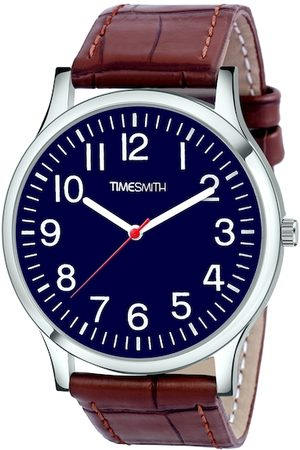 TIMESMITH Men Blue & Brown Analogue Watch CTC-003