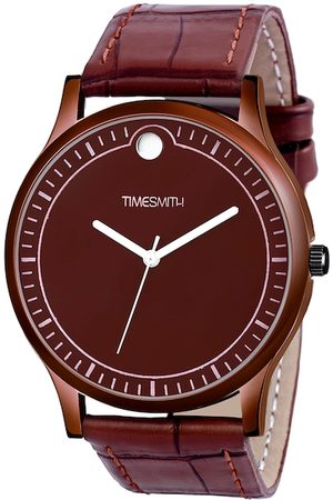 TIMESMITH Men Brown Leather Analogue Watch CTC-008