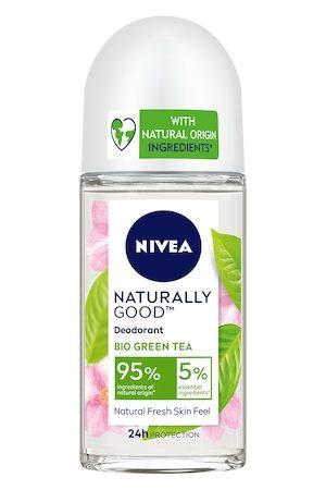 Nivea Naturally Good Bio Green Tea Roll On Deodorant 50 ml