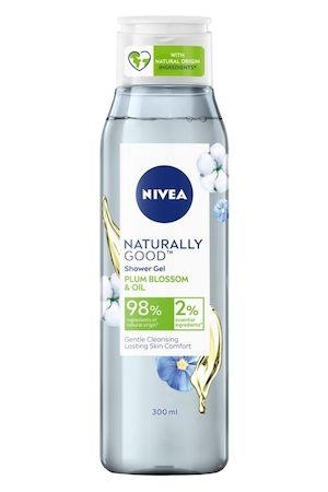 Nivea Naturally Good Plum Blossom & Oil Shower Gel 300 ml