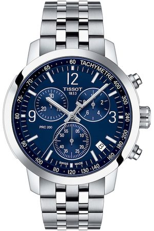Tissot Men Blue & Grey PRC 200 Chronograph Analogue Watch T1144171104700