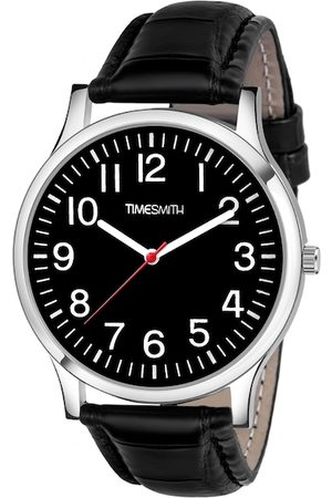 TIMESMITH Men Black & Silver-Toned Analogue Watch