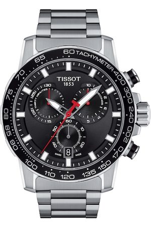 Tissot Men Black & Silver-Toned Chronograph Watch T1256171105100