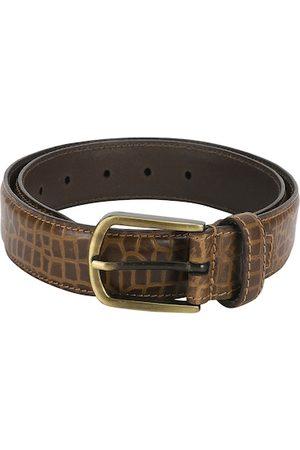 Aditi Wasan Men Tan Textured Leather Belt