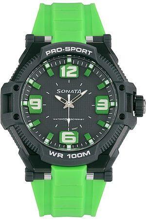 Sonata Ocean Series Men Pine Colorued Dial Watch 77029PP02J