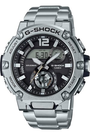Casio Men Black & Silver-Toned Analogue and Digital Watch G1078