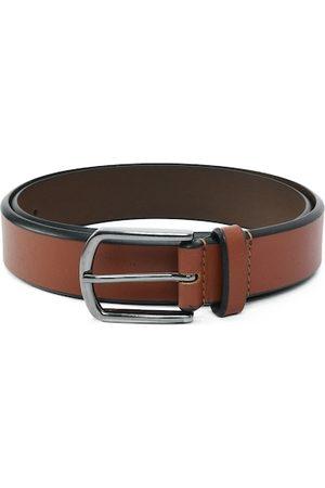 Aditi Wasan Men Brown Leather Formal Belt