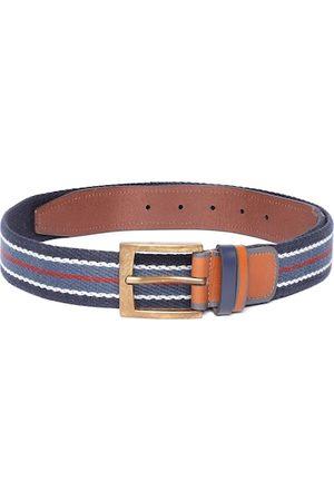 Allen Solly Men Navy Blue & White Striped Belt