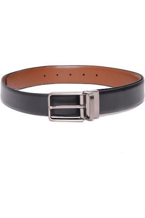 Allen Solly Men Black & Tan Brown Leather Reversible Formal Belt