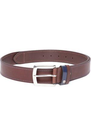 Allen Solly Men Coffee Brown Solid Leather Belt