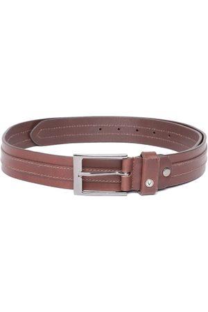 Allen Solly Men Brown Leather Belt