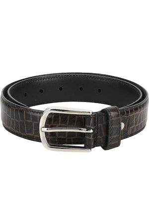 Aditi Wasan Men Brown Textured Leather Belt