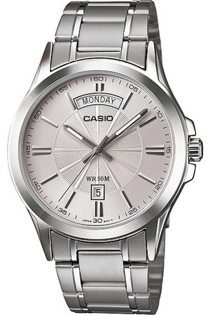 Casio Enticer Men Silver Analogue watch A841 MTP-1381D-7AVDF