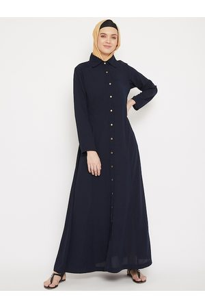MOMIN LIBAS Women Navy Blue Solid Burqa