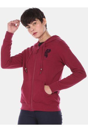 Ralph Lauren U S Polo Assn Women Red Hooded Sweatshirt