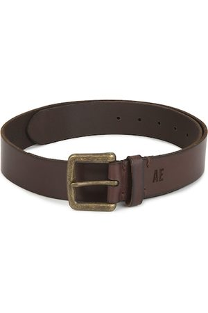 AMERICAN EAGLE OUTFITTERS Men Brown Leather Formal Belt