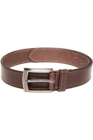 Benetton Men Brown Solid Leather Belt