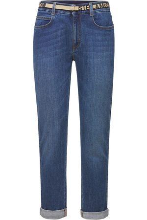 Stella McCartney Women Skinny - Cotton Denim Skinny Boyfriend Jeans