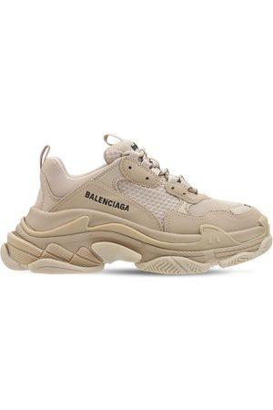 BALENCIAGA Women Sneakers - 60mm Triple S Faux Leather Sneakers