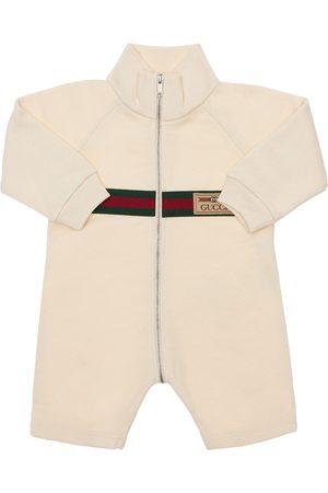 Gucci Girls Bodysuits & All-In-Ones - Logo Cotton Romper